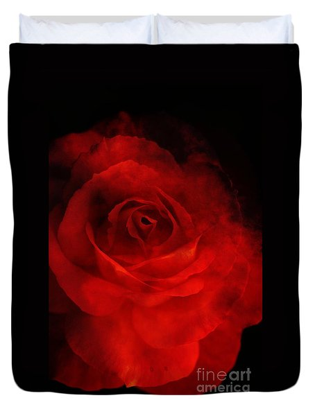 Duvet Cover featuring the photograph Natures Flame by Stephen Mitchell