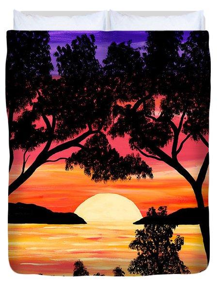Nature's Gift - Ocean Sunset Duvet Cover