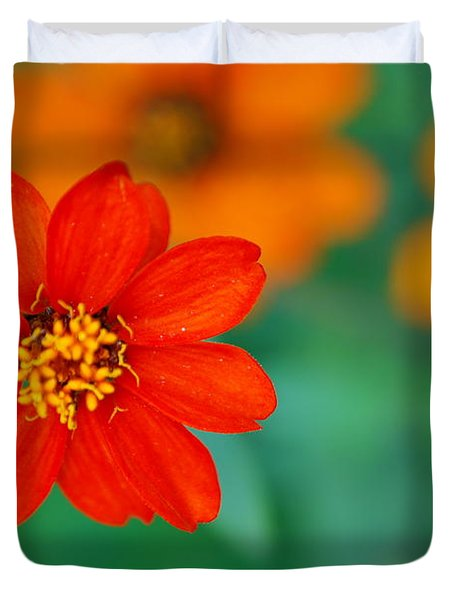 Duvet Cover featuring the photograph Nature's Glow by Debbie Karnes
