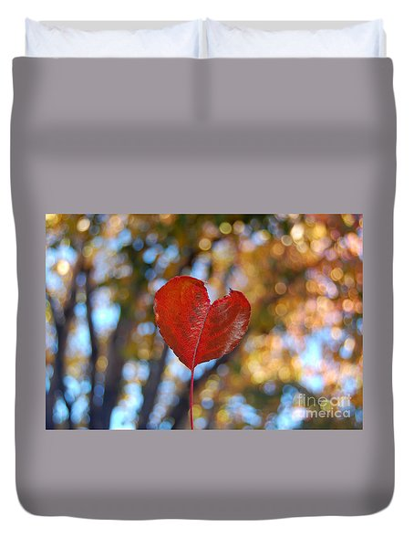 Duvet Cover featuring the photograph Nature's Love by Debra Thompson