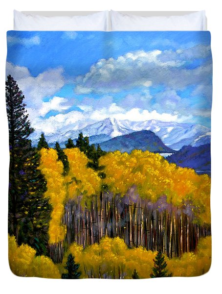 Natures Patterns - Rocky Mountains Duvet Cover