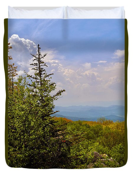 Nature's Peace Duvet Cover by Mitch Cat