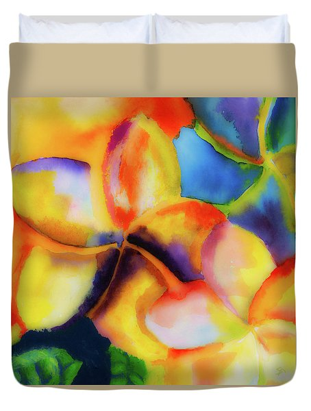 Duvet Cover featuring the painting Nature's Pinwheels by Stephen Anderson