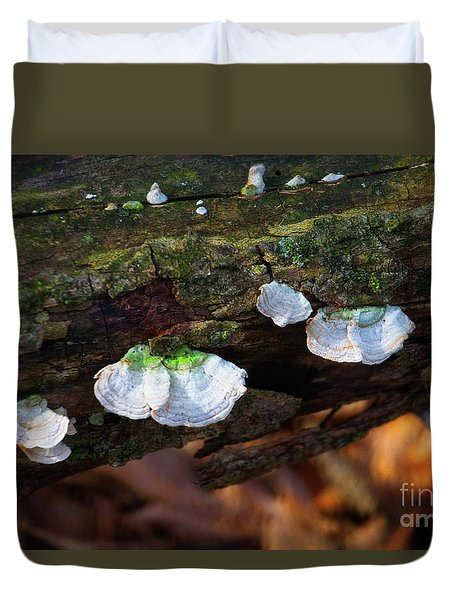 Duvet Cover featuring the photograph Natures Ruffles - Cascade Wi by Mary Machare