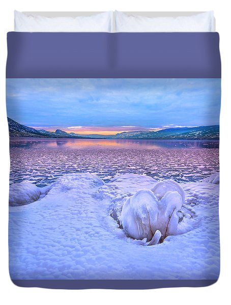 Duvet Cover featuring the photograph Nature's Sculpture by John Poon