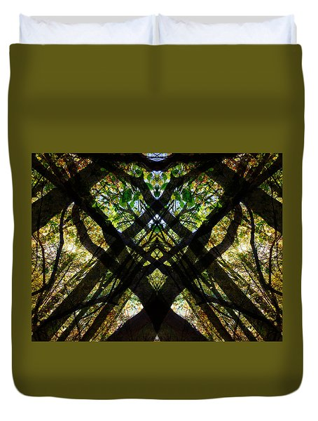 Natures Stain Glass Duvet Cover