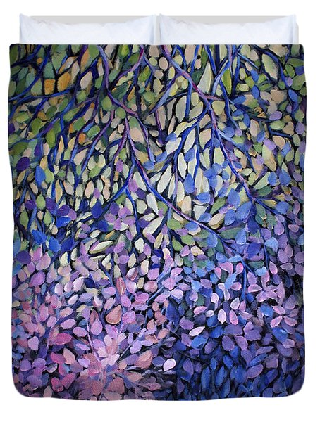 Natures Stain Glass Symphony Duvet Cover