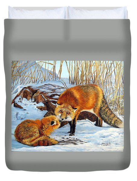 Natures Submission Duvet Cover by Marilyn McNish