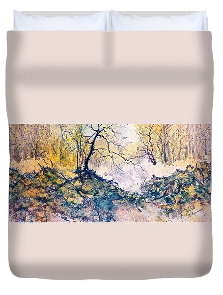 Nature's Textures Duvet Cover by Carolyn Rosenberger