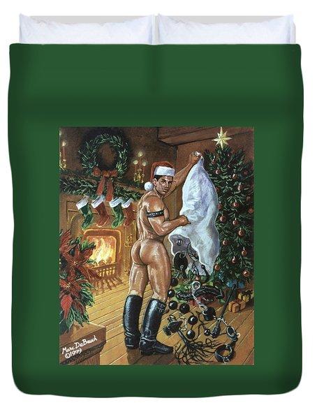 Naughty Santa Duvet Cover