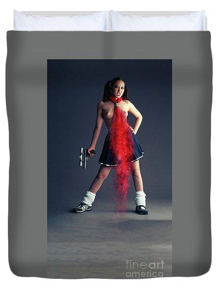Naughty Schoolgirl Duvet Cover