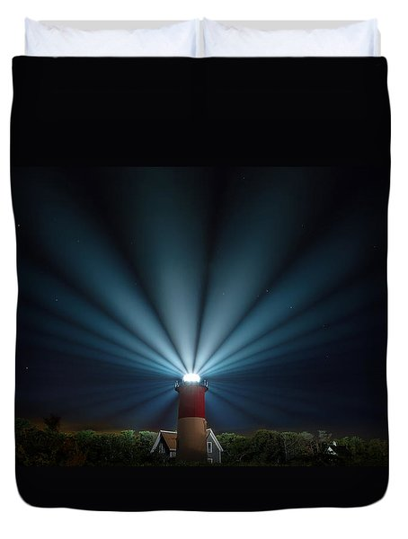 Duvet Cover featuring the photograph Nauset Beach Light by Bill Wakeley