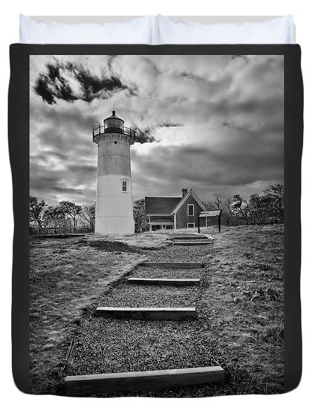 Nauset Light Infrared Duvet Cover
