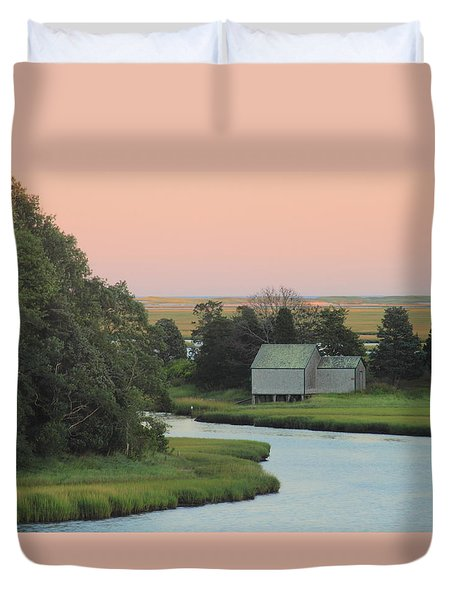 Nauset Marsh Cape Cod National Seashore Dusk Duvet Cover
