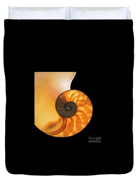 Duvet Cover featuring the photograph Nautalis by Brian Jones