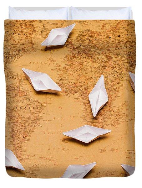 Nautical Adventure Duvet Cover
