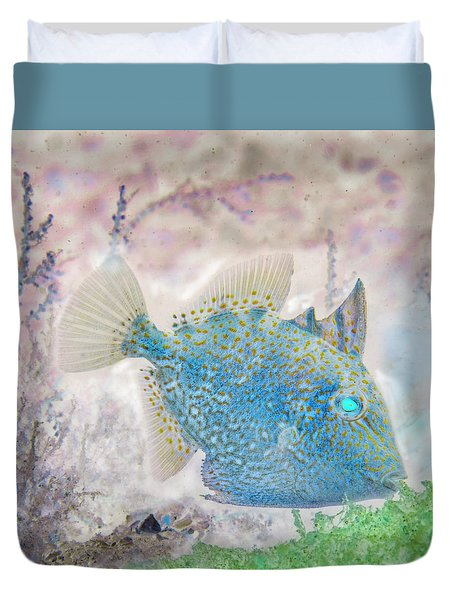 Duvet Cover featuring the photograph Nautical Beach And Fish #2 by Debra and Dave Vanderlaan