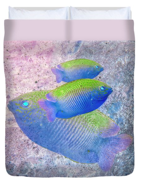 Duvet Cover featuring the photograph Nautical Beach And Fish #3 by Debra and Dave Vanderlaan