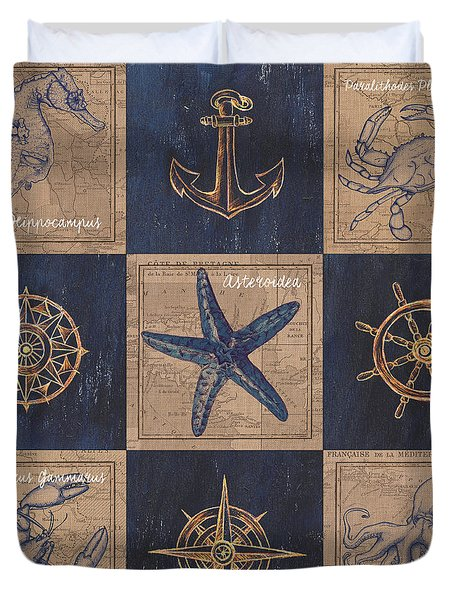 Nautical Burlap Duvet Cover