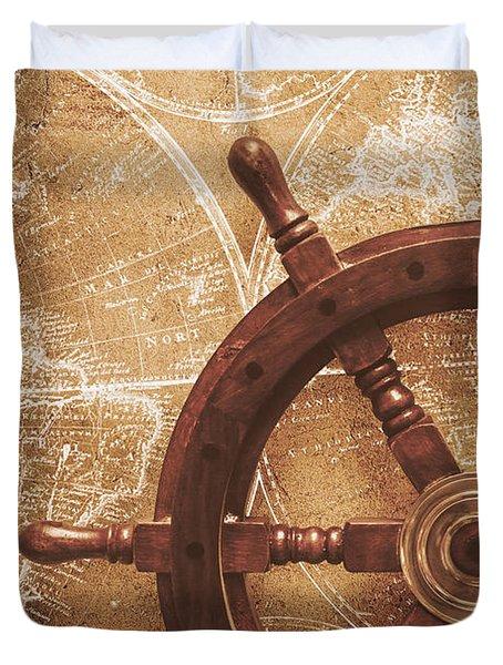 Nautical Exploration  Duvet Cover