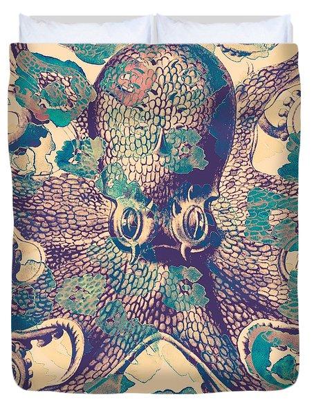 Nautical Octopus Duvet Cover