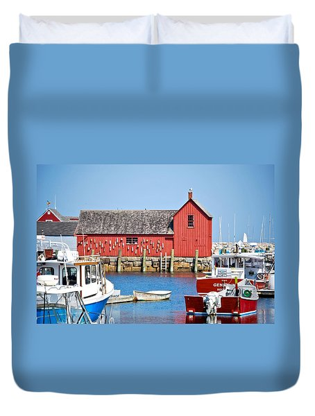 Nautical Rockport Days Duvet Cover