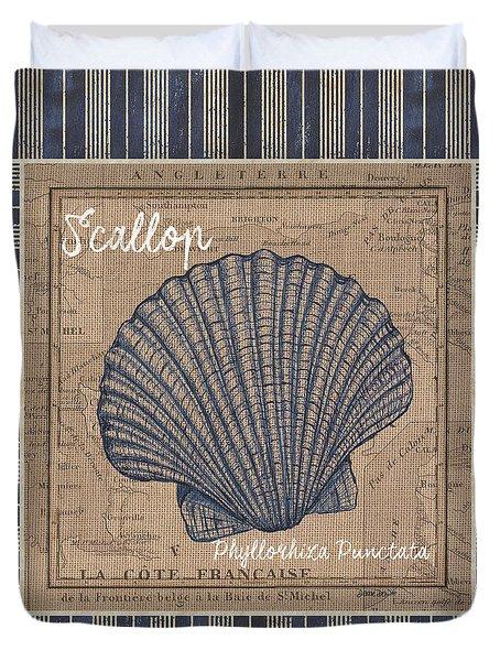Nautical Stripes Scallop Duvet Cover