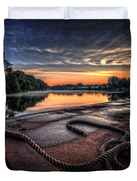 Nautical Sunrise Duvet Cover by Everet Regal