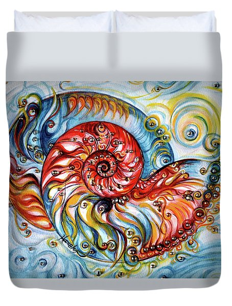 Nautilus Shell - Ocean Duvet Cover
