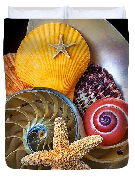Nautilus With Sea Shells Duvet Cover