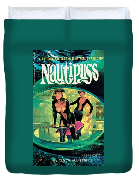 Duvet Cover featuring the painting Nautipuss by Robert Bonfils