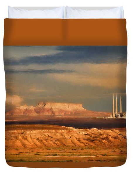 Navajo Generating Station Duvet Cover