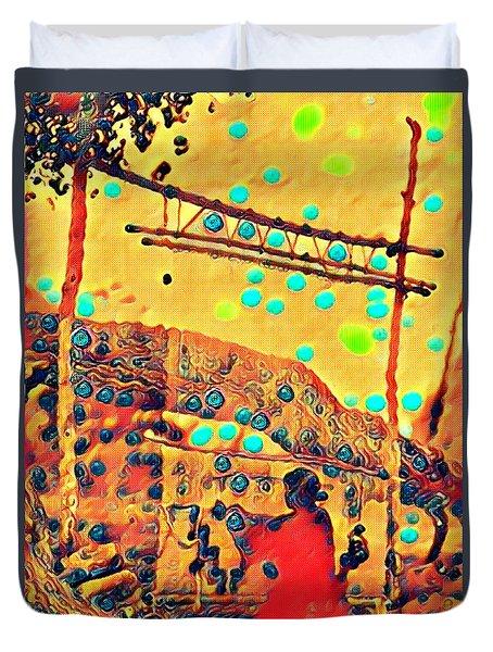 Navajo Woman Weaving 1 Duvet Cover