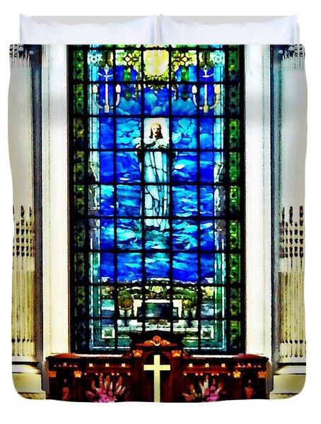 Naval Academy Chapel Duvet Cover