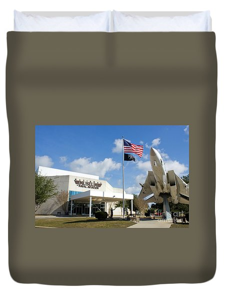 Duvet Cover featuring the photograph Naval Aviation Museum by Steven Frame