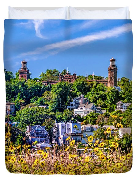 Navesink Light On The Hill Duvet Cover