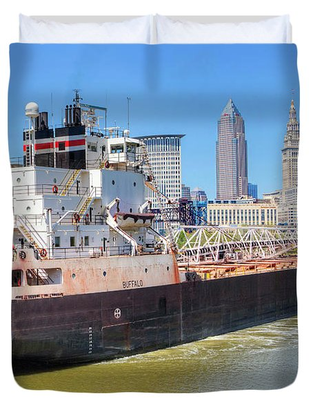 Navigating The Cuyahoga Duvet Cover