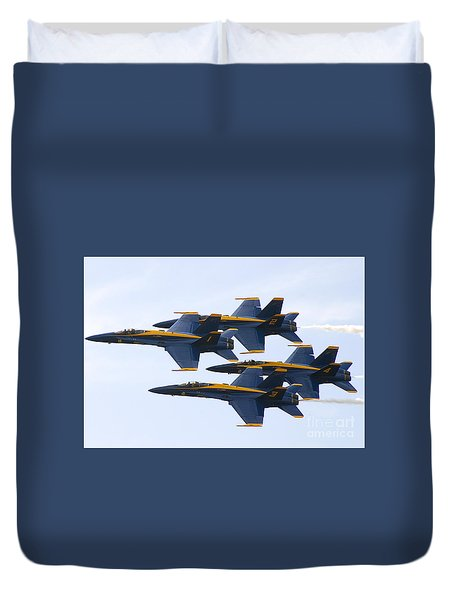 Duvet Cover featuring the photograph Navy Blue Angels  by Ricky L Jones