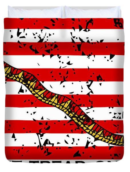 Navy Jack Flag - Don't Tread On Me Duvet Cover