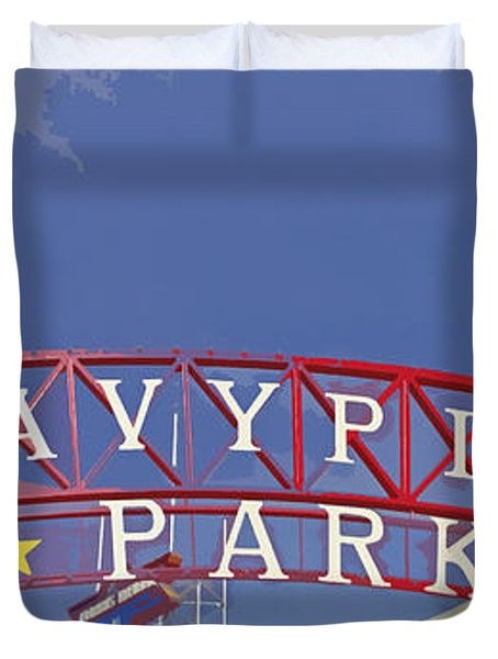 Navy Pier Duvet Cover by Mary Machare