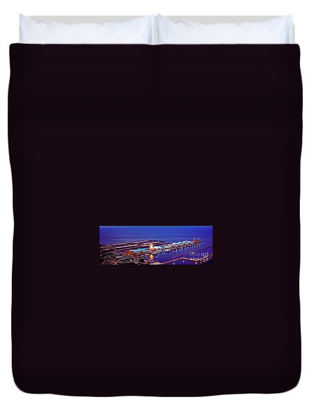 Navy Pier Duvet Cover