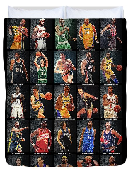 Nba Legends Duvet Cover