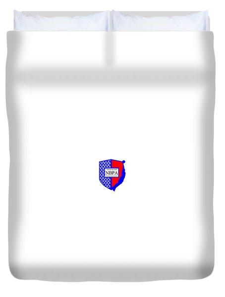 Duvet Cover featuring the digital art Nbpa Logo Redesign Sample by Tamir Barkan