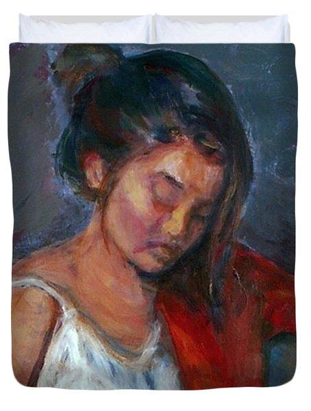 Near Sleep Duvet Cover by Quin Sweetman
