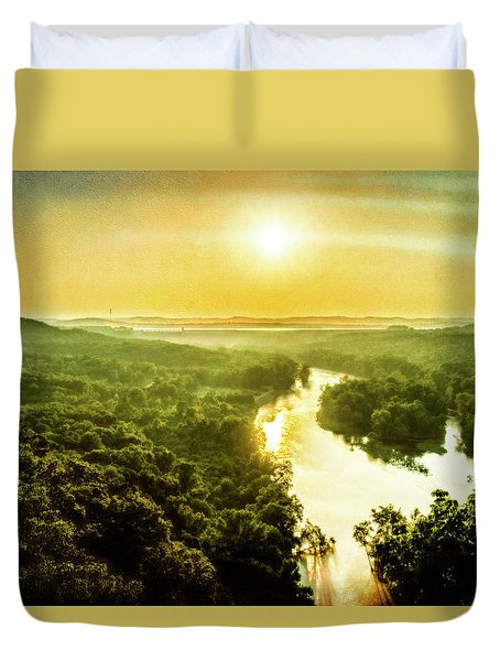 Near Table Rock Lake Duvet Cover