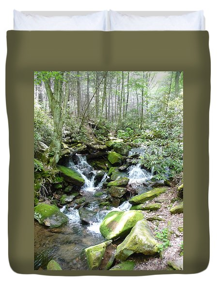 Near The Grotto Duvet Cover by Joel Deutsch