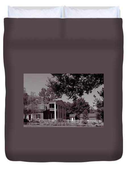 Duvet Cover featuring the photograph Near The House - The Hermitage by James L Bartlett