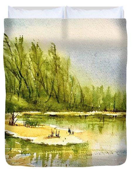 Near The Lake 4 Duvet Cover