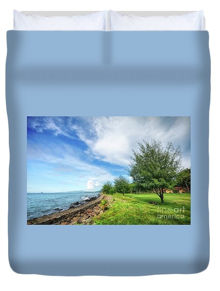 Duvet Cover featuring the photograph Near The Shore by Charuhas Images