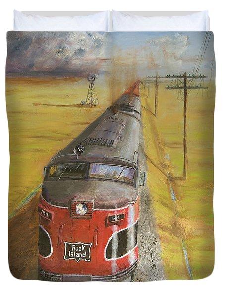Near Thistle  Ks Duvet Cover by Christopher Jenkins